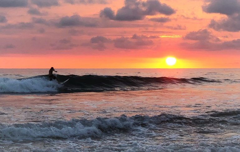Costa Rica Sunset Surfer