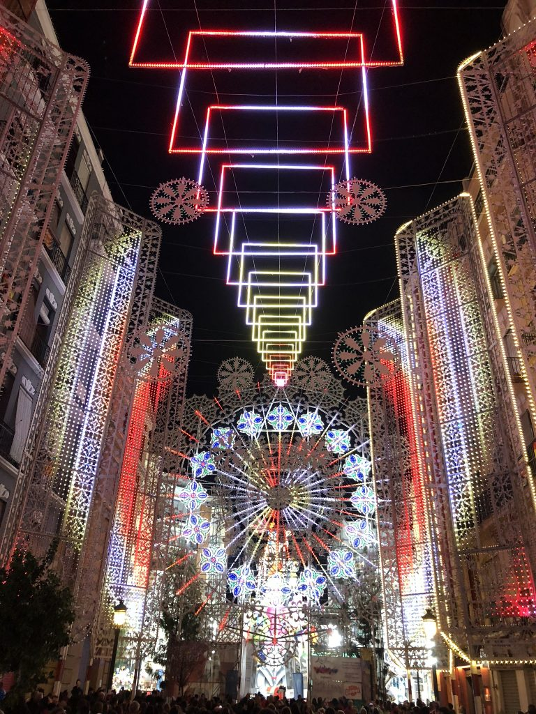 Las Fallas lights